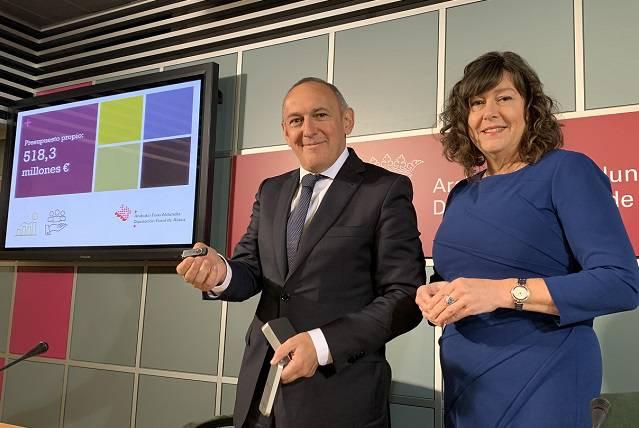 Foru aldundiak 518,3 milioi euroko aurrekontua aurkeztu du 2020rako