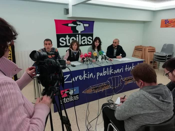 Segregazioa okerrera doala salatu du Steilas sindikatuak