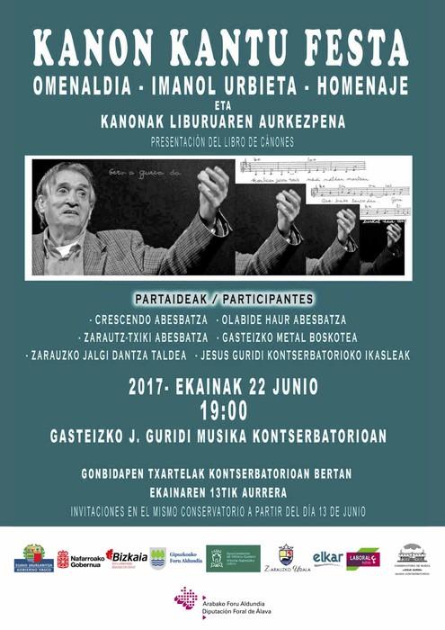 """""""Lehenengo musikari handia izan zen Imanol Urbieta"""""""