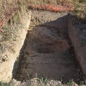 Erromatar garaiko herrixka baten aztarnak aurkitu dituzte Atiagan