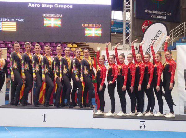 Bost domina lortu ditu Biribildu aerostep taldeak Espainiako txapelketan