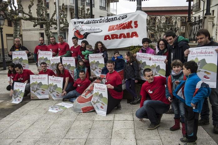 Araiak hartuko du igandean presoen aldeko 'Lasterbidean' lasterketa