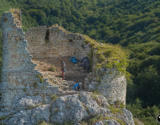 Marutegiko gaztelua aztertu dute EHUko arkeologoek