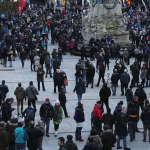 12.000 lagun inguru,  martxoaren 3an hildako bost langileen aldeko manifestazioan