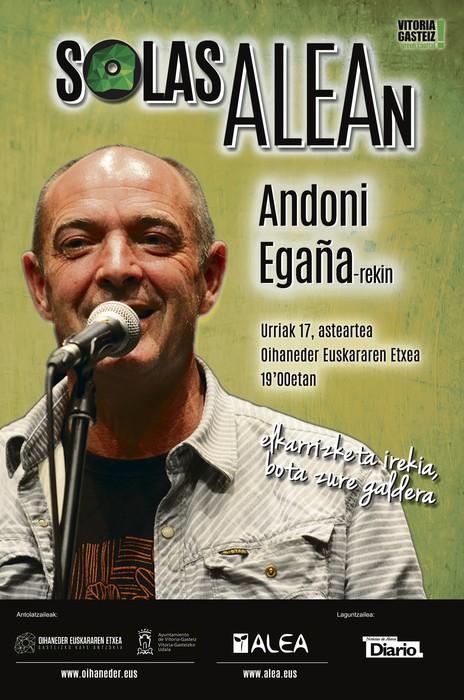 Andoni Egañarekin 'SolasAlean', urriaren 17an
