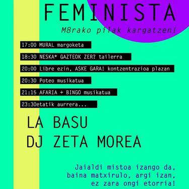 [JAIA] Jaialdi feminista: martxoak 8rako pilak kargatzen