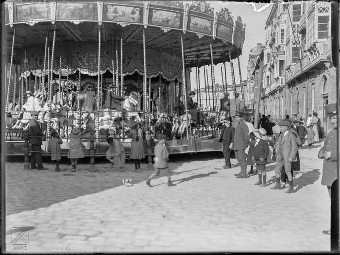 Barrakak Prado kalean, 1914. urtean. E.Guinea/ udal artxibategia