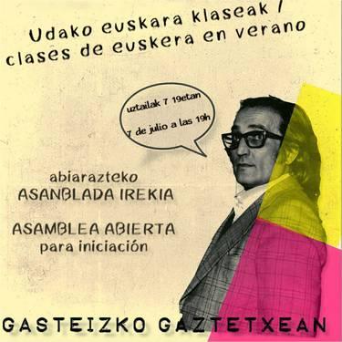 [ASANBLADA] Gaztetxeko udako euskara klaseak