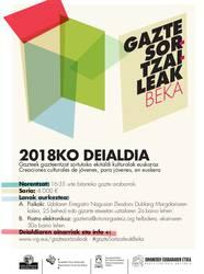 2018ko GAZTE SORTZAILEAK beka-deialdia, martxan