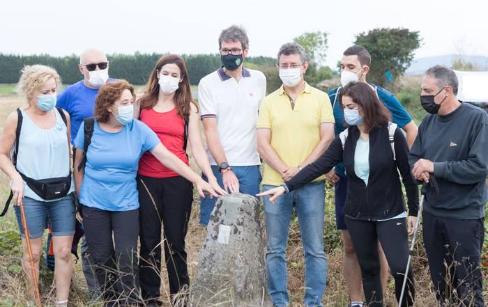 Mugarriak bisitatu ditu udalbatzak, makroproiektuen aurkako protesta artean