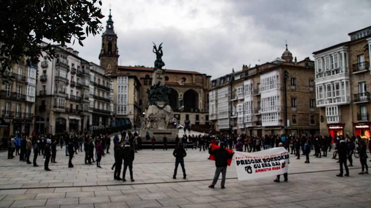 Patxi Ruizen aldeko elkartasun mobilizazioak Araban