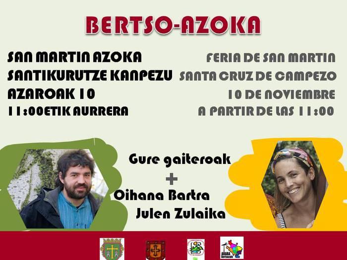 [BERTSO SAIOA] Kanpezu Plaza librea