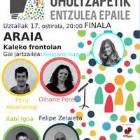 Oholtzapetik finala: Peru Abarrategi + Oihane Perea + Xabi Igoa + Felipe Zelaieta