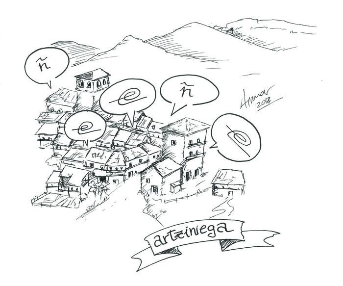Aiaraldeko euskararen historia: I. Artziniega eta Aiaraldeko mendebaldea, euskararen eta gazteleraren arteko muga