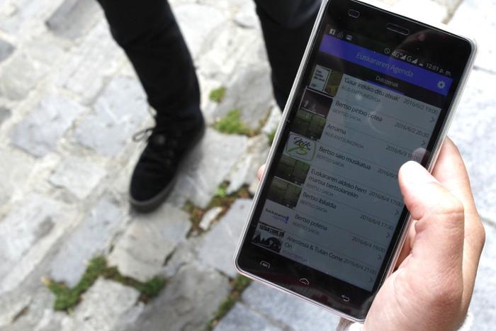 Arabako Euskararen Agendaren aplikazioa; hitzordu guztiak, zure mugikorrean