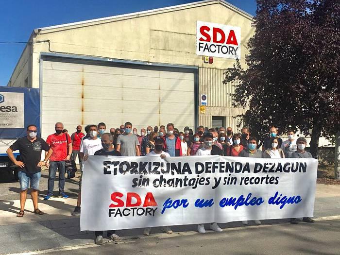 SDA Factoryko langileak murrizketen aurrean mobilizatuko dira
