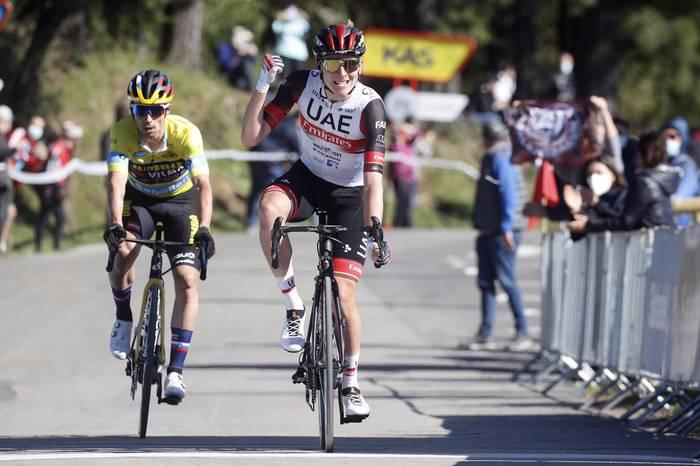 Esloveniako Starsky eta Hutch: Pogacarrek etapa, Roglicek Itzulia