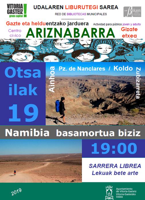 [HITZALDIA] 'Namibia basamortua biziz'