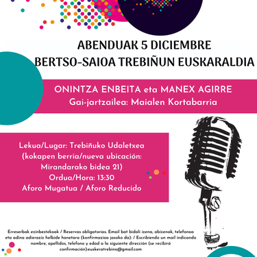 Euskaraldia: Onintza Enbeita, Manex Agirre