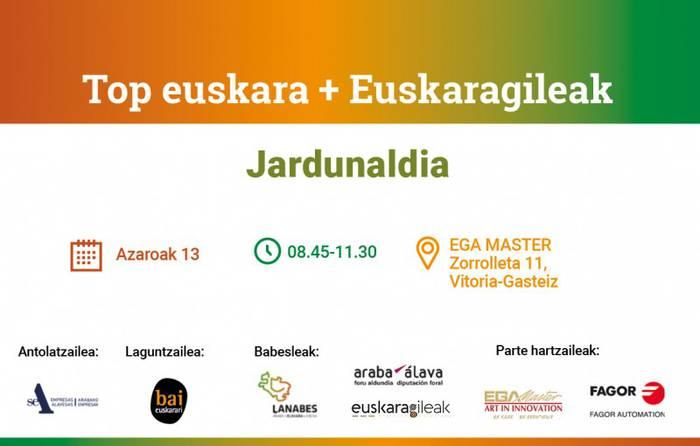 [JARDUNALDIA] 'Top euskara + Euskaragileak'