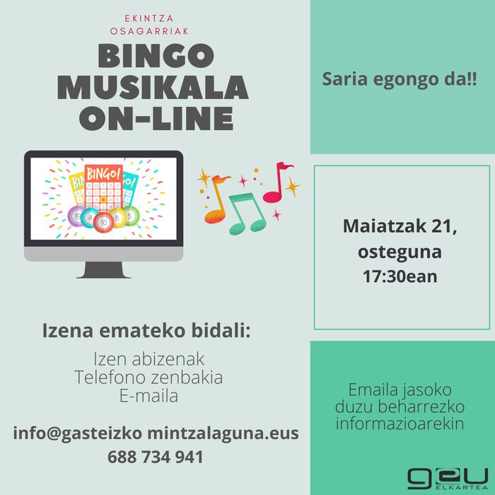 [EKINTZA OSAGARRIAK] Bingo Musikala Online