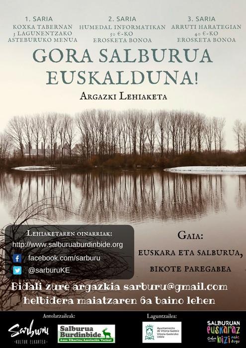 [ARGAZKI LEHIAKETA] 'Gora Salburua euskalduna!'