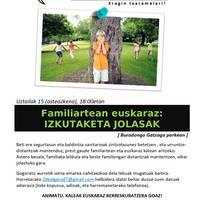 Familiartean euskaraz: izkutaketa jolasa
