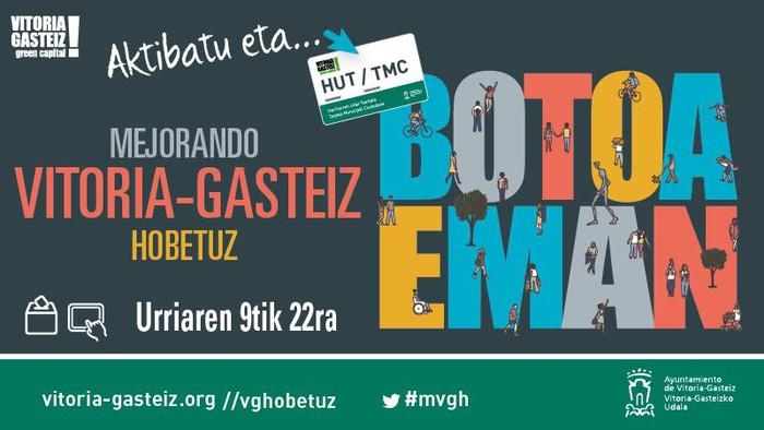 Zabalik da 'Gasteiz Hobetuz' programan bozkatzeko epea
