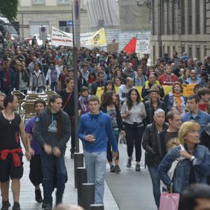 Errekaleorren aldeko manifestazioa, iruditan
