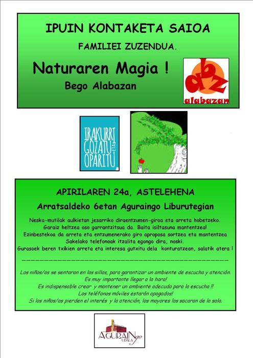 [IPUIN KONTAKETA] 'Naturaren magia', Bego Alabazan