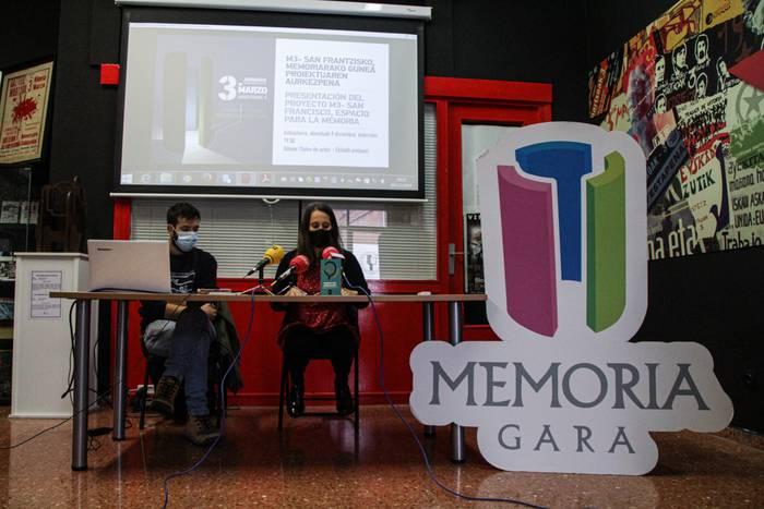 San Frantzisko elizan memoriaren gune bat sortzeko proiektua aurkeztu du Memoria Garak