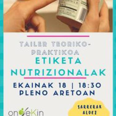 Etiketa nutrizionalak