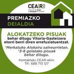 Errefuxiatuentzako alokairuzko pisuak behar ditu CEAR-Euskadik
